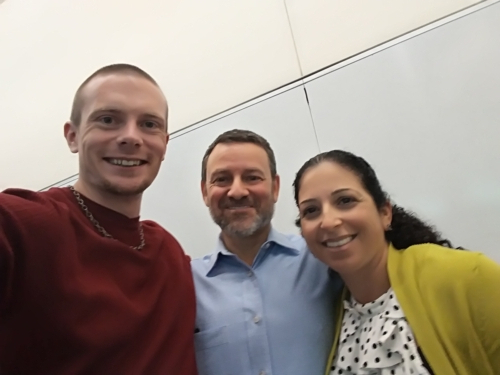 Russell Lehmann with Jay and Shira Ruderman of the Ruderman Family Foundation - May, 2019