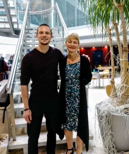 Russell Lehmann with renowned Dr. Francesca Happe of King's College, London - May, 2019