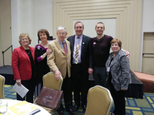 With Mary Beth Bruder, Ann & Rud Turnbull, Andy Imparato and Molly Cole - April, 2018